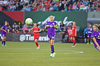 Portland, Oregon - Sunday April 17, 2016: Orlando Pride forward Alex Morgan (13). The Portland Thorns play the Orlando Pride during a regular season NWSL match at Providence Park. The Thorns won 2-1.
