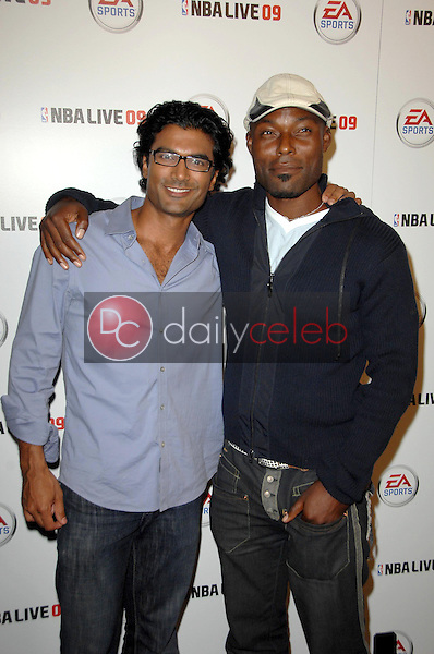 Sendhil Ramamurthy and Jimmy Jean-Louis<br />at the Launch Party for NBA Live 09. Beso, Hollywood, CA. 09-26-08<br />Dave Edwards/DailyCeleb.com 818-249-4998