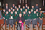 Killarney Monastry NS pupils who were confirmed in St Mary's Cathedral by Bishop Bill Murphy on Wednesday front row l-r: Aaron O'Mahony-Fleming, Jack Enright, Adam McMahon, Jack Murphy, Conor Counihan, Stephen Walsh-O'Connor, Josh Fleming. Middle row: Jason Reen, Luke Moynihan, Conor O'Leary, Caél O'Donoghue, Alan O'Shea, Dominick Sychta, Dylan Leahy, Cillian Lynch. Back row: Darragh Lyne, Tomas McCluskey, Ronan McClure, Alan Fabisewski, Kacper Malinowski, David Payne and Tadhg Doolan. Back row: Colm O'Suileabhain Principal, Fr Pat Horgan, Fr Niall Howard and Fr Cieran O'Brien.