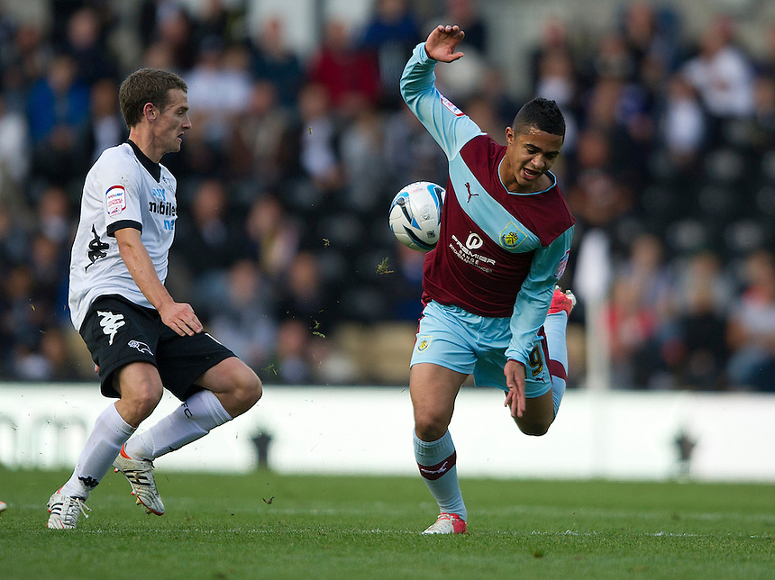 Burnley's Cameron Stewart ..Football - npower Football League Championship - Derby County v Burnley - Saturday 22nd September 2012 - Pride Park - Derby..
