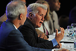 Martin Sheen responds to a question during a panel discussion on the political appeal of drug courts on Monday, July 18, 2011 at the Gaylord National Hotel Resort and Convention Center in National Harbor, MD. The event opened the National Association of Drug Court Professionals 17th annual Drug Court training conference. (Larry French/AP Images for NADCP)