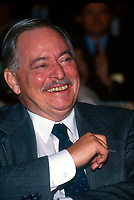 File Photo, November 1994, Montreal, Quebec, Canada<br /> <br /> Jacques Parizeau, Quebec Premier and leader of the Parti Quebecois, in a 1994 file photo taken during a PQ meeting, in Montreal Canada<br /> <br />  <br /> Mandatory Credit: Photo by Pierre Roussel- Images Distribution. (©) Copyright 1994 by Pierre Roussel <br /> <br /> NOTE: Nikon LS-2000 scan from 35mm slide<br />  - Mulcair is now (2011) with the New Democratic Party (of Canada).
