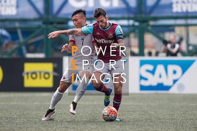 West Ham United vs HKFA U-21 during the Main of the HKFC Citi Soccer Sevens on 21 May 2016 in the Hong Kong Footbal Club, Hong Kong, China. Photo by Li Man Yuen / Power Sport Images