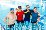 Cathal Roche, Daniel O'Keeffe, Shane Buckley and Sean O'Sullivan who participated in the Swimaton in aid of the Irish Cancer Society in the Killarney Sport and Leisure Centre last Saturday