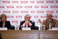 SAO PAULO,  26 DE JUNHO DE 2012. LULA NA FIESP. O ex presidente Luis Inacio Lula Da Silva durante reunião de apresentação do Memorial  da democracia na Fiesp. FOTO: ADRIANA SPACA - BRAZIL PHOTO PRESS