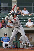 Kolbrin Vitek #5 of the Salem Red Sox at bat during a game against the Myrtle Beach Pelicans on May 25, 2011 at BB&T Coastal Field in Myrtle Beach, South Carolina.