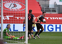 15th July 2020; Ashton Gate Stadium, Bristol, England; English Football League Championship Football, Bristol City versus Stoke City; Danny Batth and Sam Vokes of Stoke City celebrate their goal in the 62nd minute for 1-1
