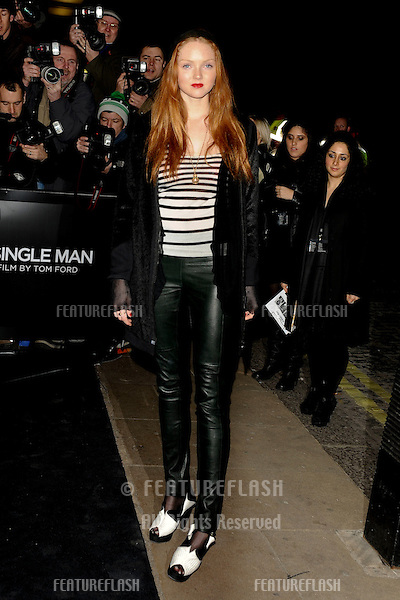 "Lily Cole arrives for the premiere of ""A Single Man"" at the Curzon Mayfair, London.  01/02/2010  Picture by: Steve Vas / Featureflash"