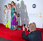 """JESSE TYLER FERGUSON CAPTURES THE MODERN FAMILY CAST(Winner Comedy Series)  ON HIS i-PHONE.at the  64TH Primetime Emmy Awards, Nokia Theatre Live, Los Angelees_23/09/2012.Mandatory Credit Photo: ©Dias/NEWSPIX INTERNATIONAL..**ALL FEES PAYABLE TO: """"NEWSPIX INTERNATIONAL""""**..IMMEDIATE CONFIRMATION OF USAGE REQUIRED:.Newspix International, 31 Chinnery Hill, Bishop's Stortford, ENGLAND CM23 3PS.Tel:+441279 324672  ; Fax: +441279656877.Mobile:  07775681153.e-mail: info@newspixinternational.co.uk"""