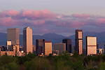 Sunrise skyline and the Rocky Mountains, Denver, Colorado. .  John offers private photo tours in Denver, Boulder and throughout Colorado. Year-round Colorado photo tours.