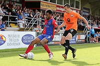 Chike Kandi of Dagenham and Redbridge and Haydn Hollis of Chesterfield during Dagenham & Redbridge vs Chesterfield, Vanarama National League Football at the Chigwell Construction Stadium on 15th September 2018