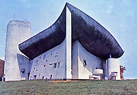 Notre Dame du Haut is a Roman Catholic chapel in Ronchamp, France, 1954. Designed by Franco-Swiss architect Le Corbusier and one of the most important examples of twentieth-century religious architecture.