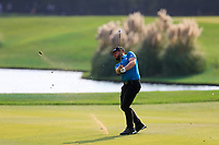 Tyrrell Hatton (ENG) on the 18th fairway during the final round of the WGC HSBC Champions, Sheshan Golf Club, Shanghai, China. 03/11/2019.<br /> Picture Fran Caffrey / Golffile.ie<br /> <br /> All photo usage must carry mandatory copyright credit (© Golffile | Fran Caffrey)