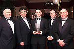 Gerry Tallon, Des Cahill, Andy Tallon, Young Sportstar of the Year, Cillian Duffy and Ron Eustace at the Drogheda Independent/Drogheda Concentrates Sportstar of the Year Awards in the Westcourt Hotel..Picture Paul Mohan Newsfile