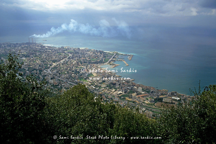 Looking over Jounieh Bay from Harissa, Beirut, Lebanon.