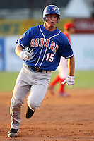 June 18th 2008:  David Cooper of the Auburn Doubledays, Class-A affiliate of the Toronto Blue Jays, during a game at Dwyer Stadium in Batavia, NY.  Photo by:  Mike Janes/Four Seam Images