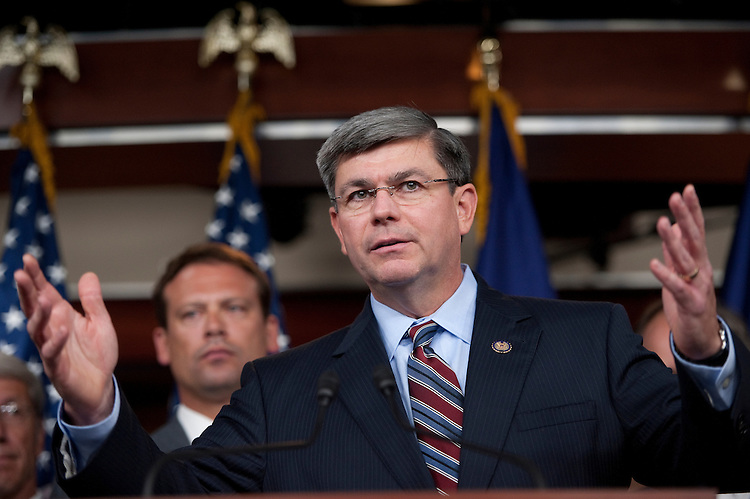 UNITED STATES - SEPTEMBER 14: Rep. Mike Ross, D-Ark., speaks during the Blue Dog Coalition news conference on the debt and the Joint Committee on Deficit Reduction on Wednesday, Sept. 14, 2011. (Photo By Bill Clark/Roll Call)