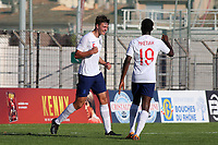 Dael Fry celebrates scoring England's opening goal during Mexico Under-21 vs England Under-21, Tournoi Maurice Revello Final Football at Stade Francis Turcan on 9th June 2018