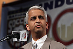 10 AUG 2010: U.S. Soccer Federation President Sunil Gulati makes some opening remarks. The 2010 National Soccer Hall of Fame Induction Ceremony was held at New Meadowlands Stadium in East Rutherford, New Jersey.