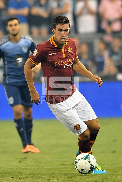 Sporting Park, Kansas City, Kansas, July 31 2013:<br /> Kevin Strootman (6) midfield AS Roma in action.<br /> MLS All-Stars were defeated 3-1 by AS Roma at Sporting Park, Kansas City, KS in the 2013 AT &amp; T All-Star game.