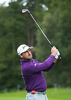 Graeme McDowell of Northern Ireland in action during a Pro-Am round ahead of the 2015 British Masters at the Marquess Course, Woburn, in Bedfordshire, England on 7/10/15.<br /> Picture: Richard Martin-Roberts   Golffile