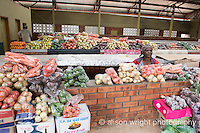 Africa, Swaziland, Malkerns. Women selling vegetables in the local Manzini market.