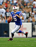 21 September 2008: Buffalo Bills' quarterback Trent Edwards in action against the Oakland Raiders at Ralph Wilson Stadium in Orchard Park, NY. The Bills rallied for 10 unanswered points in the 4th quarter to defeat the Raiders 24-23 marking their first 3-0 start of the season since 1992...Mandatory Photo Credit: Ed Wolfstein Photo