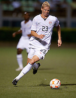 Brek Shea dribbles the ball. Costa Rica defeated the US Under 20 Men's National team 3-0 during the 2009 CONCACAF U-20 Championship game at Marvin Lee Stadium Trinidad & Tobago in Macoya, Trinidad on March 17th, 2009.