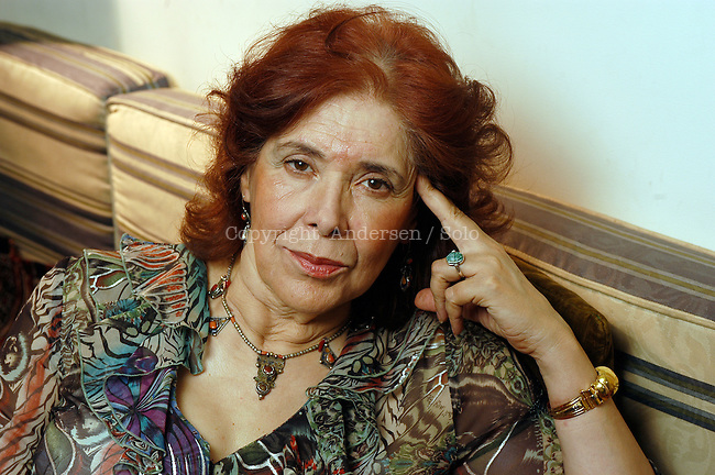 Assia Djebar, French / Algerian writer at home in 2005.