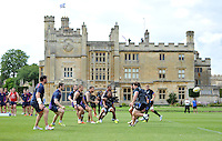 Bath Rugby take part in a join training session with visiting rugby league side Wigan Warriors. Bath Rugby pre-season training session on August 18, 2014 at Farleigh House in Bath, England. Photo by: Patrick Khachfe/Onside Images