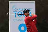 Emilio Cuartero Blanco (ESP) on the 8th tee during Round 2 of the Challenge Tour Grand Final 2019 at Club de Golf Alcanada, Port d'Alcúdia, Mallorca, Spain on Friday 8th November 2019.<br /> Picture:  Thos Caffrey / Golffile<br /> <br /> All photo usage must carry mandatory copyright credit (© Golffile | Thos Caffrey)