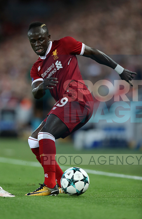 Sadio Mane of Liverpool during the Champions League playoff round at the Anfield Stadium, Liverpool. Picture date 23rd August 2017. Picture credit should read: Lynne Cameron/Sportimage