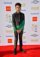 LOS ANGELES, CA. March 30, 2019: Miles Brown at the 50th NAACP Image Awards.<br /> Picture: Paul Smith/Featureflash