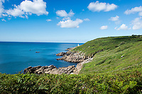 Walk from Lamorna to Porthcurno, Cornwall, England