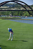 Dustin Johnson (USA) hits his approach shot on 13 during round 7 of the World Golf Championships, Dell Technologies Match Play, Austin Country Club, Austin, Texas, USA. 3/26/2017.<br /> Picture: Golffile | Ken Murray<br /> <br /> <br /> All photo usage must carry mandatory copyright credit (&copy; Golffile | Ken Murray)