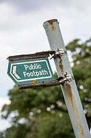 Public footpath sign - Lincolnshire