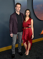 "LOS ANGELES, USA. December 19, 2019: Ted McGrath & Anna McGrath at the premiere of ""1917"" at the TCL Chinese Theatre.<br /> Picture: Paul Smith/Featureflash"