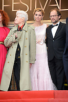 "Alain Resnais and Anne Consigny attending the ""vous n avez encore rien vu (You ain t seen nothin yet)"" Premiere during the 65th annual International Cannes Film Festival in Cannes, 21th May 2012...Credit: Timm/face to face /MediaPunch Inc. ***FOR USA ONLY***"