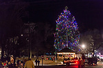 BETHLEHEM, CT. 07 December 2018-120718 - Horses pull people for a hayride around town as the big Christmas tree stands tall and is all lit up during the annual Christmastown Festival on the Town Green in Bethlehem on Friday. Bill Shettle Republican-American