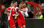Nederland, Utrecht, 30 maart 2012.Eredivisie.Seizoen 2011-2012.FC Utrecht-Excelsior.Mike van der Hoorn (2e van rechts) van FC Utrecht juicht nadat hij de 1-0 heeft gemaakt.