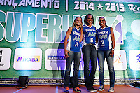 SAO PAULO, SP, 21.10.2014 - FESTA DE LANCAMENTO 21ª SUPERLIGA DE VOLEI 2014/2015.Jogadoras da equipe Rexona/Ades durante festa de lançamento da 21ª superliga de volei. Esperada como uma das temporadas mais equilibradas dos últimos anos, a Superliga masculina e feminina de vôlei 2014/2015 terá início no dia 25 de outubro. A  festa de lançamento aconteceu na manhã de  terça-feira (21.10), , no Hotel Pestana, na zona sul da capital paulista. (Foto: Adriana Spaca / Brazil Photo Press)
