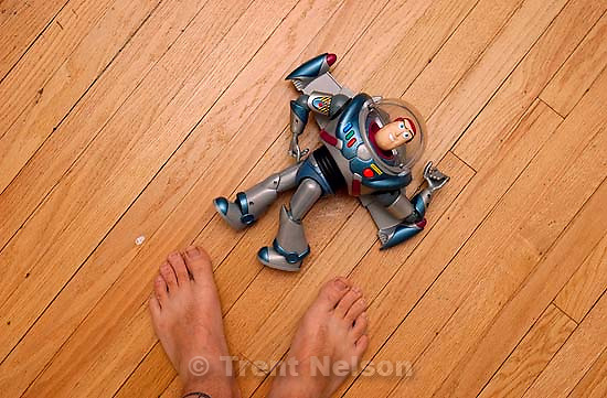 Trent feet and Buzz Lightyear. 09/22/2001, 12:17:00 PM<br />