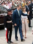 King Felipe VI and Queen Letizia of Spain,visit Weston library, Oxford <br /> 14 Jul 2017