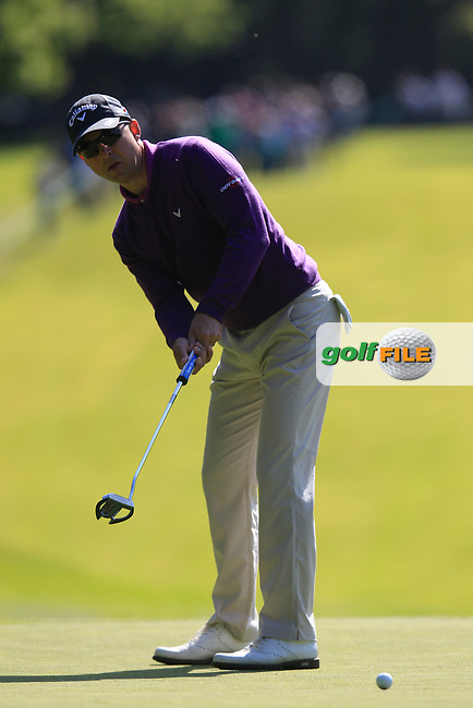 Niclas FASTH (SWE) during round 1 of the 2015 BMW PGA Championship over the West Course at Wentworth, Virgina Water, London. 21/05/2015<br /> Picture Fran Caffrey, www.golffile.ie: