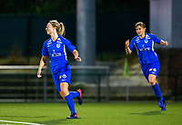 20190823 - OUD HEVERLEE BELGIUM : KRC Genk's Eleen Kimps  pictured celebrating her goal during the female soccer game between the OHL Ladies vs KRC Genk Ladies, the first game for both teams in the Belgian Women's Super League , Friday 23rd  August 2019 at the OHL Jeugdcomplex , Belgium . PHOTO SPORTPIX.BE | SEVIL OKTEM