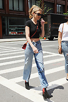 www.acepixs.com<br /> June 28, 2017 New York City<br /> <br /> Gigi Hadid was seen walking in New York City on June 28, 2017.<br /> <br /> Credit: Kristin Callahan/ACE Pictures<br /> <br /> Tel: 646 769 0430<br /> Email: info@acepixs.com