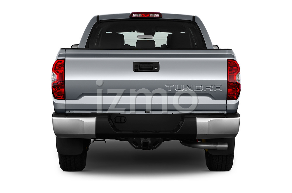 Straight rear view of a 2018 Toyota Tundra SR5 5.7L Crew Max 4WD Short Bed 4 Door Pick Up stock images