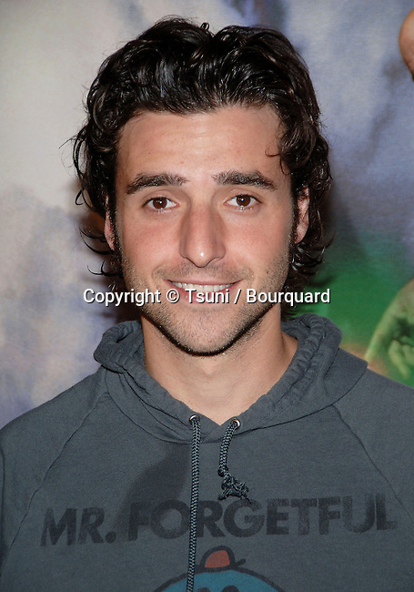 David Krumholtz arriving at the TENACIOUS D in The Pick Of Destiny Premiere at the Chinese Theatre in Los Angeles.<br /> <br /> headshot<br /> smile<br /> eye contact