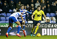 Blackburn Rovers' Ben Brereton  competing with Reading's John Swift and  Liam Moore<br /> <br /> Photographer Andrew Kearns/CameraSport<br /> <br /> The EFL Sky Bet Championship - Reading v Blackburn Rovers - Wednesday 13th February 2019 - Madejski Stadium - Reading<br /> <br /> World Copyright © 2019 CameraSport. All rights reserved. 43 Linden Ave. Countesthorpe. Leicester. England. LE8 5PG - Tel: +44 (0) 116 277 4147 - admin@camerasport.com - www.camerasport.com