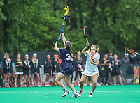 College Park, MD - May 19, 2018: Navy Andie O'Sullivan (30) wins the faceoff during the quarterfinal game between Navy and Maryland at  Field Hockey and Lacrosse Complex in College Park, MD.  (Photo by Elliott Brown/Media Images International)